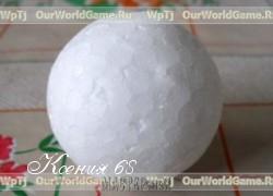 Ксения 68 - Шар из пенопласта для изготовления елочных украшений МК