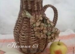 Ксения 68 - Кувшин из газетой лозы. Идеи для вдохновения и маленький МК