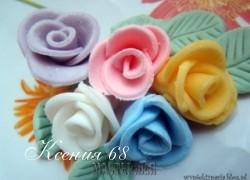 Ксения 68 - Розочки из мастики