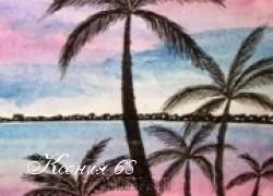 Ксения 68 - Рисуем пальмы