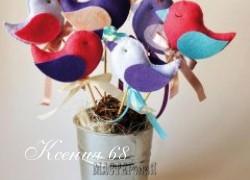 Ксения 68 - Разноцветные птички из фетра