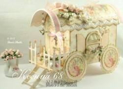 Ксения 68 - Тележка из картона и палочек от мороженого МК