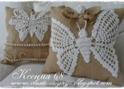 Ксения 68 - Бабочка на подушке. Схема