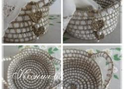 Ксения 68 - Корзинка из бельевой веревки