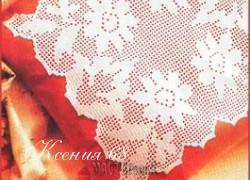 Ксения 68 - Накидка на подушку, связанная крючком