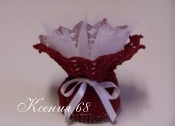 Ксения 68 - Очаровательная сумочка для мыла крючком.Схемы