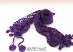 Ксения 68 - Виноградный шарфик (вязание крючком)