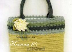 Ксения 68 - Сумка-корзинка крючком