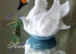 Ксения 68 - Грелка на чайник в виде лебедя
