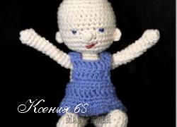 Ксения 68 - Вязаная крючком куколка