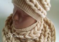 Ксения 68 - Шапочка спицами