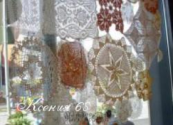 Ксения 68 - Шторы из вязаных крючком мотивов