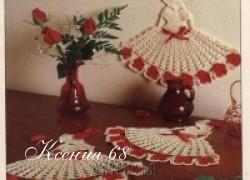 Ксения 68 - Дамы в шляпах. Вязание крючком. Схема