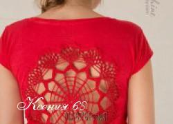 Ксения 68 - Украшаем салфетками футболки