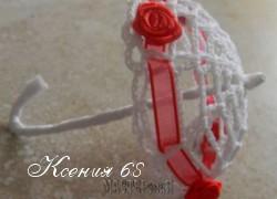Ксения 68 - Вязаный крючком мини зонтик
