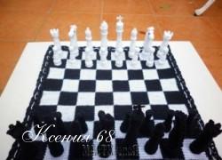 Ксения 68 - Вязаные шахматы в сумочке. Идея