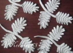 Ксения 68 - Вязание на бурдоне. Веточка. Ирландское кружево.МК