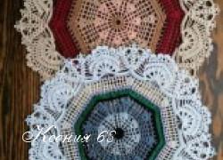 Ксения 68 - Салфетки крючком в технике филейное вязание