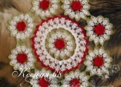 Ксения 68 - Красивая салфетка (вязание крючком)