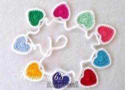 Ксения 68 - Сердечная гирлянда к празднику. Схема