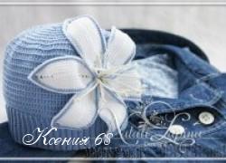 Ксения 68 - Шапочка с лилией (вязание крючком)