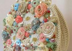 Ксения 68 - Сумочка крючком с атласными розами