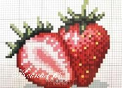 Ксения 68 - Вышиваем крестиком клубнику. Схемы