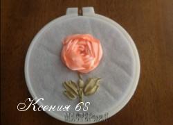 Ксения 68 - Розы, вышитые шелковыми лентами