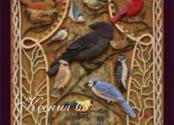 Ксения 68 - Птицы из фетра с вышивкой