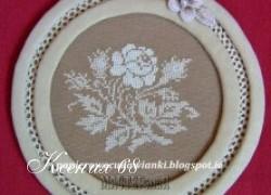 Ксения 68 - Идеи применения вышивки: панно и салфетница