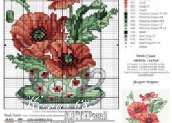 Ксения 68 - Цветы. Вышивка крестом. Схемы