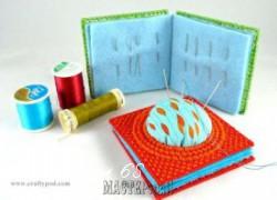 Ксения 68 - Игольница с вышивкой на пластиковой  канве