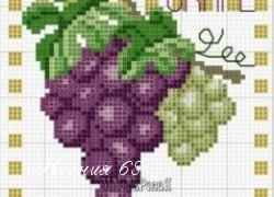 Ксения 68 - Виноград. Вышивка крестиком