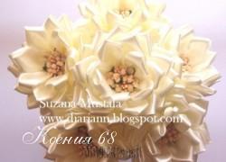 Ксения 68 - Цветы из атласных лент. МК
