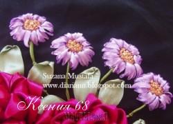 Ксения 68 - Хризантемы. Вышивка лентами. МК от Suzana Mustafa