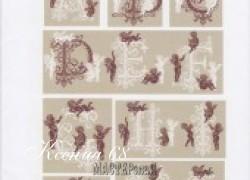 Ксения 68 - Монограммы с ангелочками. Схемы вышивок крестиком