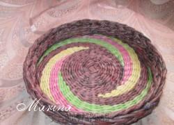 Marina - Плетение из газет.