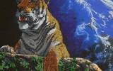 Елена_Беспрозванцева - Тигр-хозяин мира - вышивка бисером