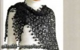 Gaanna - Черная шаль безотрывным вязанием
