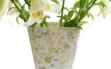 Ксения 68 - Декорирование стеклянной вазы мозаикой.МК
