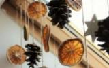 Ксения 68 - Гирлянда из апельсинов, шишек и звезд из полимерной глины