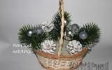 Ксения 68 - Новогодняя корзинка с подснежниками и конфетами