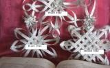 Ксения 68 - Снежинки. Винтажное украшение из старых книг. МК