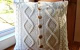 Ксения 68 - Подушка и подставки под горячее из старого свитера.МК