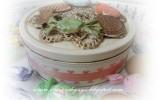 Ксения 68 - Украшаем коробку от печенья мукосольками. МК