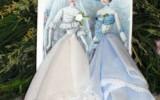 Ксения 68 - Винтажные открытки с дамами в юбках из носовых платочков
