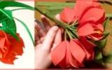 """Ксения 68 - Цветы из гофробумаги """"Императорская корона"""". МК"""