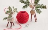 Ксения 68 - Рождественские олени из спилов дерева и веток ели.МК