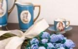 Ксения 68 - Голубые розы и гвоздики из ткани