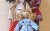 Ксения 68 - Гибкая кукла-мотанка из проволоки и шпагата. МК